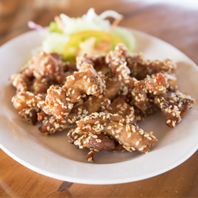 Sesame-crusted Pork