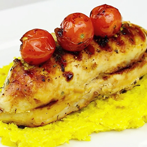Chicken, Sweetcorn and Cherry Tomatoes