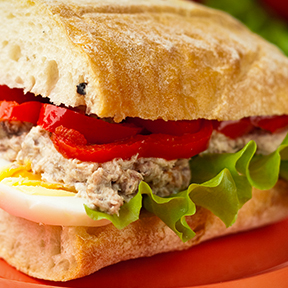 Tuna, Egg and Pepper Ciabatta