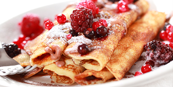Saut 233 Ed Fruit Pancakes With Whipped Cinnamon Butter Your